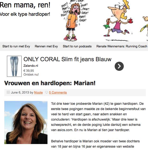 Vrouwen en hardlopen: Marian Palsgraaf