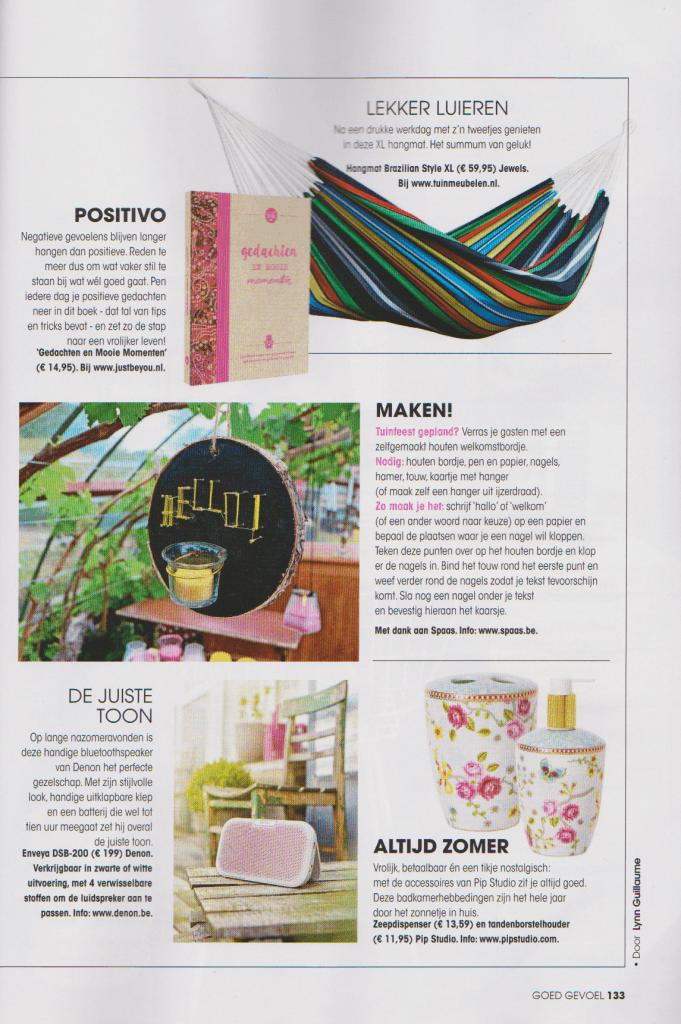 justbeyou.nl in tijdschrift Goed Gevoel september 2016