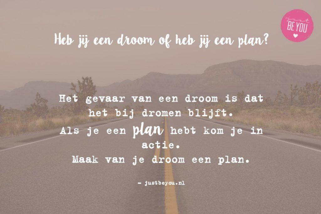 Heb jij een droom of heb jij een plan