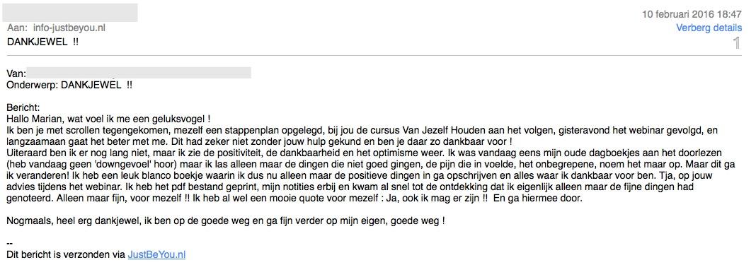 review just be you Van Jezelf Houden