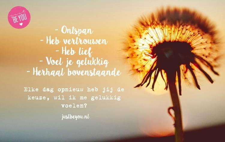 Keuze gelukkig worden