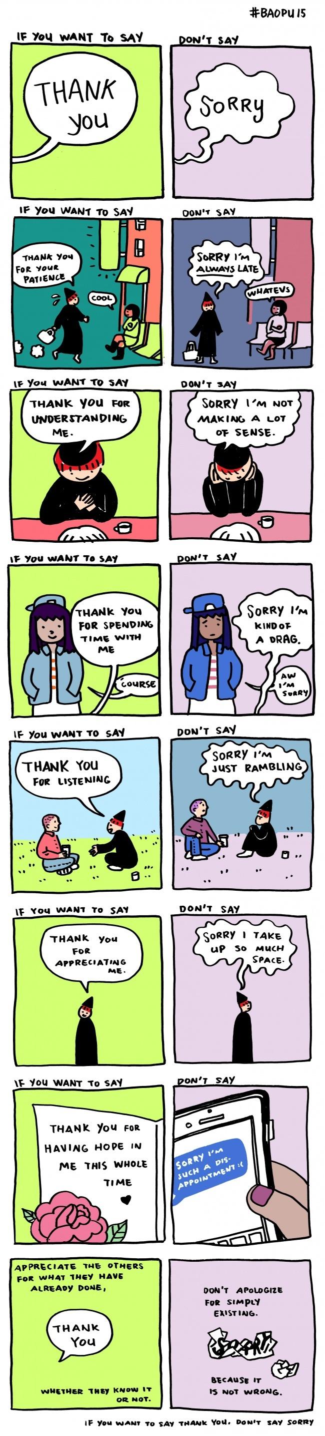 Hoe vaak zeg jij sorry?
