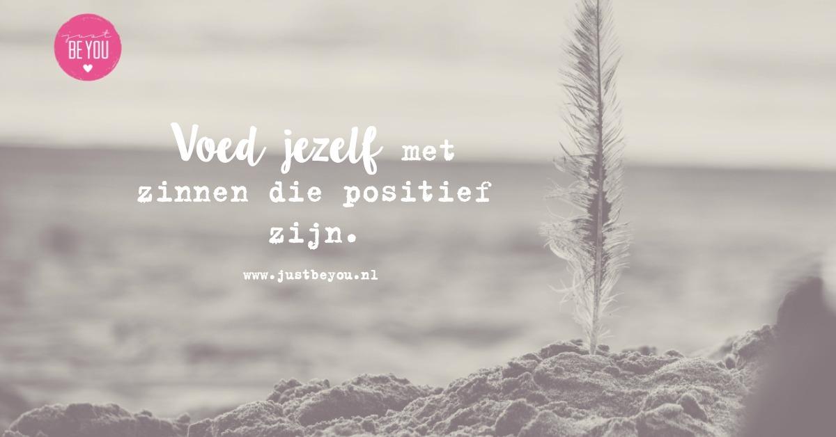 positief in het leven staan