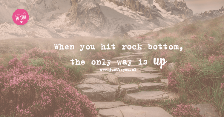 When you hit rock bottom, the only way is up