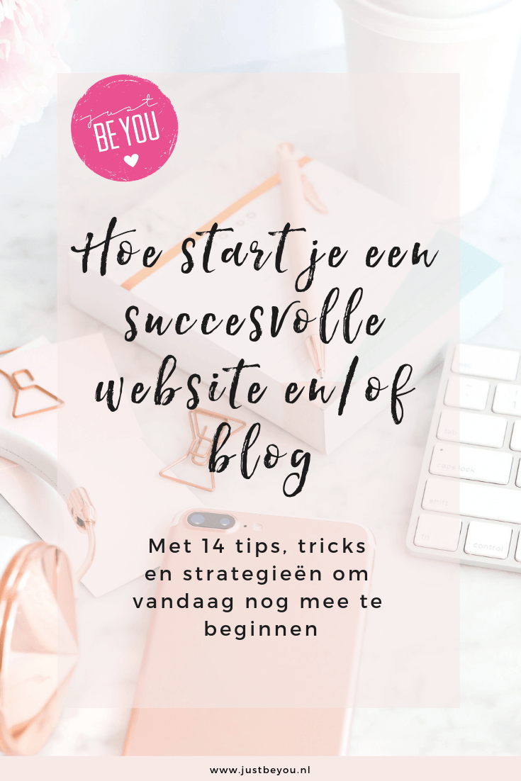 Hoe start je een succesvolle website enof blog