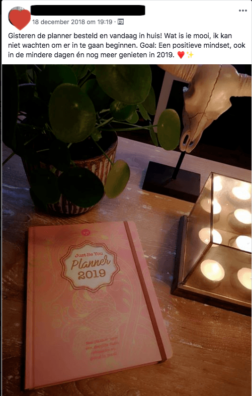 Just Be You Planner 2019