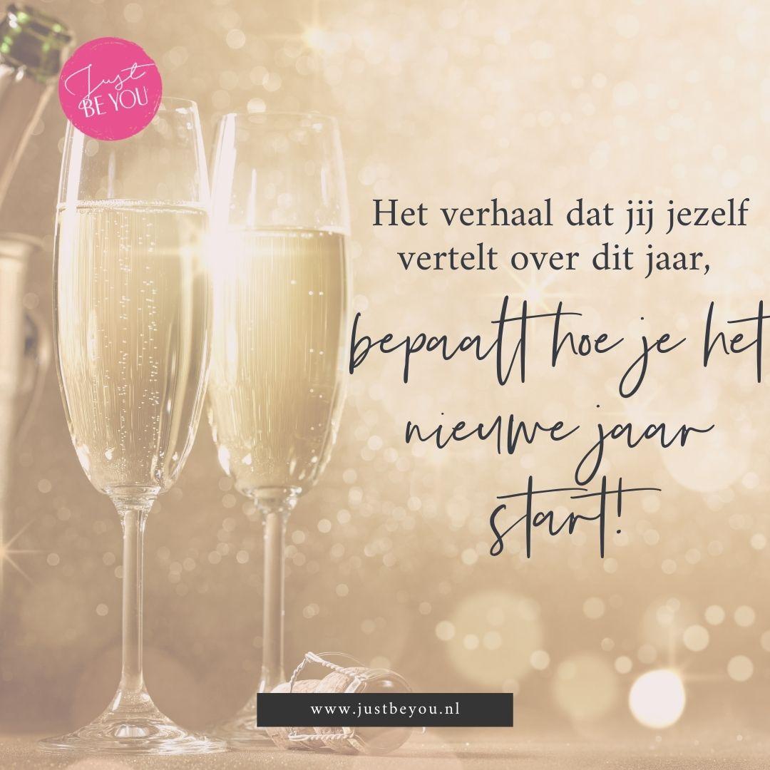 het verhaal dat jij jezelf vertelt over dit jaar, bepaalt hoe je het nieuwe jaar start!
