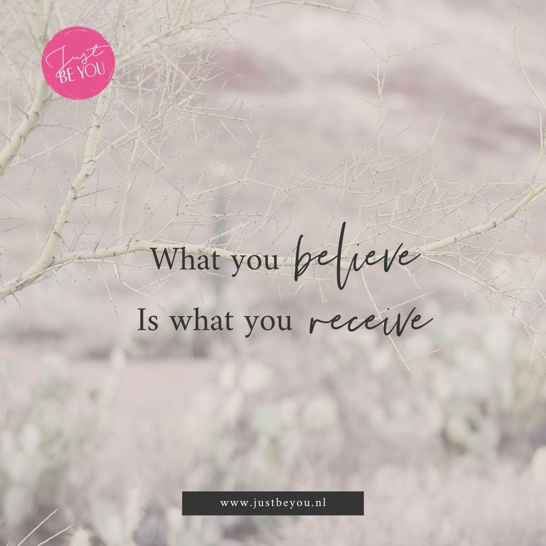 Eerst geloven dan zien