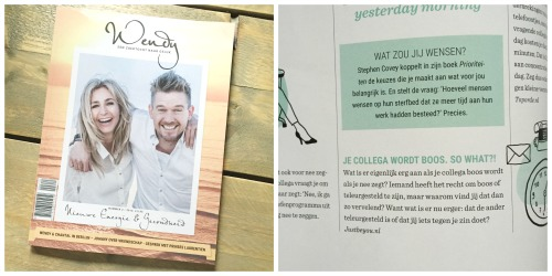 Geluksmomenten, Just Be You in Wendy Magazine