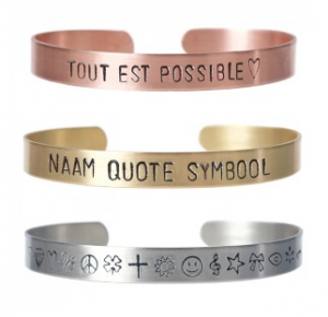 quotes of teksten op armband