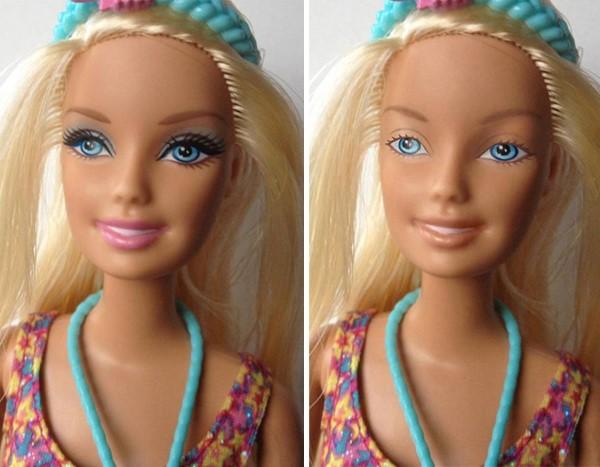 barbie zonder make-up