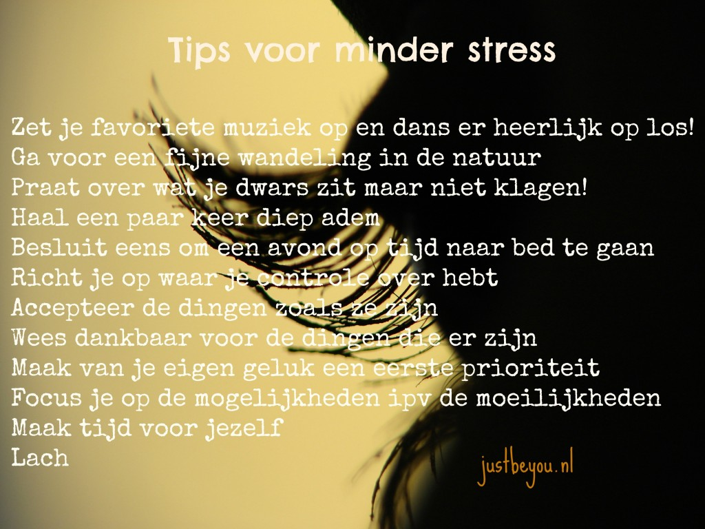 tips voor minder stress